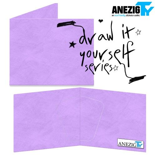 Purple Draw It Yourself wallet