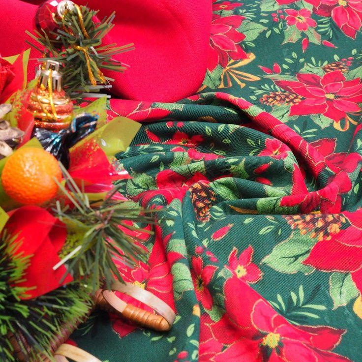 Ткань хлопок новогодняя рождественская