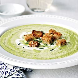 Cream of Asparagus soup - lemons and leeks sound so yummy!
