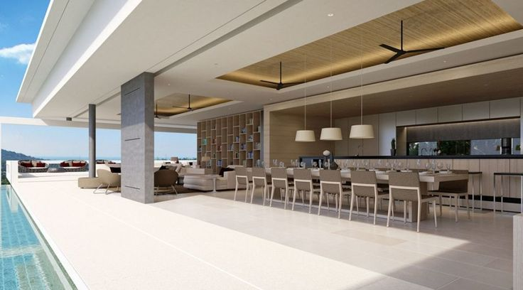 villa24- living dining pool area