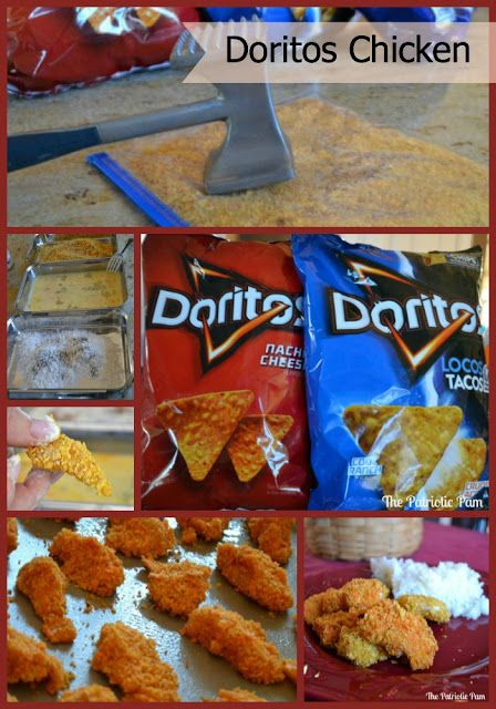 Doritos Chicken Nuggets.  So easy and yummy.  It is a must try recipe.