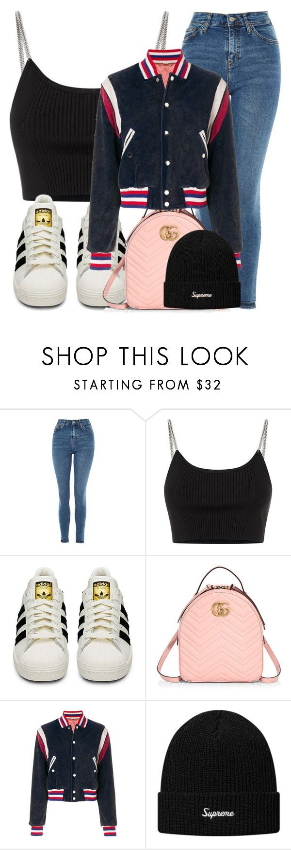 """zaylee; the youngest."" by inlovewith4idiots ❤ liked on Polyvore featuring Topshop, Alexander Wang, adidas and Gucci"