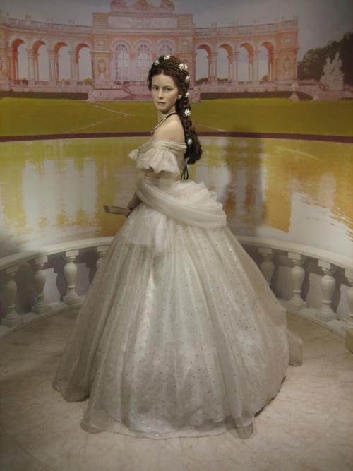 A wax figure of Empress Elisabeth at Madame Tussaud's in Vienna, Austria.