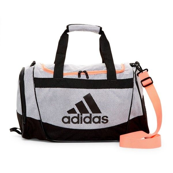 adidas Defender II Small Duffle ($25) ❤ liked on Polyvore featuring bags, luggage, accessories and white