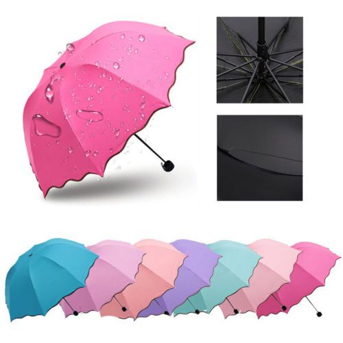 Women-Princess-Umbrella-Magic-Flowers-Dome-Parasol-Sun-or-Rain-Folding-Umbrella