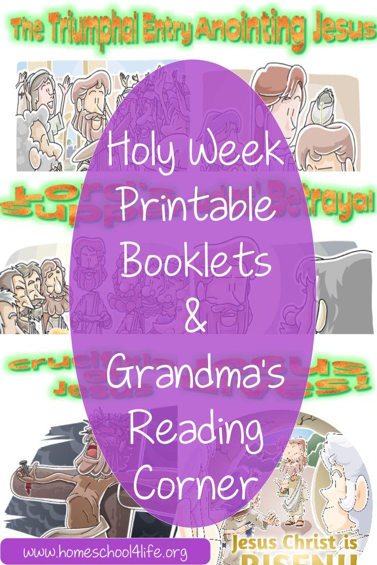 Holy Week Printable Booklets & Grandma's Reading Corner