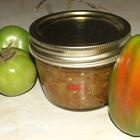 green tomatoe relish  something to do with all those late green tomatoes in the fall