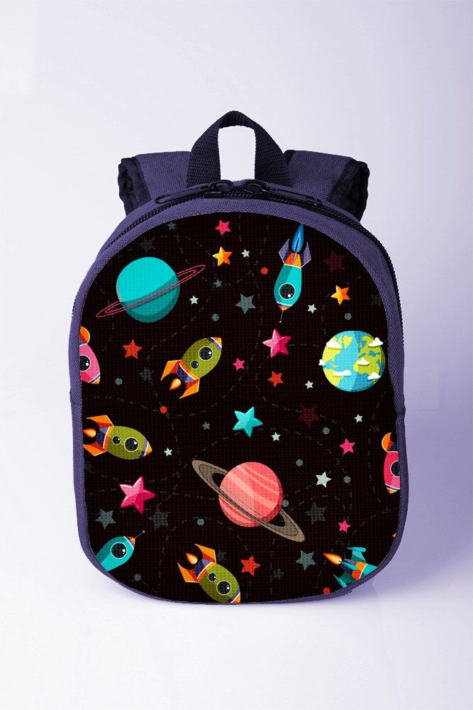 Universe print backpack Space backpack Planets backpack Toddler boy backpack Kids bags for school Preschool backpack Blue backpack by XYZbag on Etsy https://www.etsy.com/listing/246294350/universe-print-backpack-space-backpack