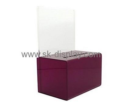 Acrylic display stand manufacturers customize acrylic box fundraising boxes DBS-283