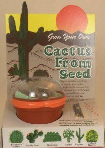 Grow Your Own Cactus From Seeds - Cacti Seed - Assortment of Different Cactus Seeds by Bach. $4.00. Grow Your Own Cactus From Seeds. Includes a Mini- Greenhouse Pot, Soil, and Seeds... Everything Needed For a Cactus Garden. Perfect Southwestern Gift or Souvenir. Contains a Variety of Seeds Including Saguaro, Prickly Pear, Cholla, Golden Barrel, Fishook Barrel, and Hedgehog Cactus. Grow your own cactus from seeds.  This kit includes everything you need to grow cactus. ...