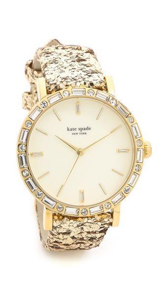 Glittery Gold Watch