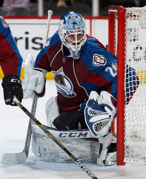 DENVER, CO - MARCH 10: Goalie Reto Berra #20 of the Colorado Avalanche defends the goal against the Los Angeles Kings at Pepsi Center on March 10, 2015 in Denver, Colorado. (Photo by Doug Pensinger/Getty Images)