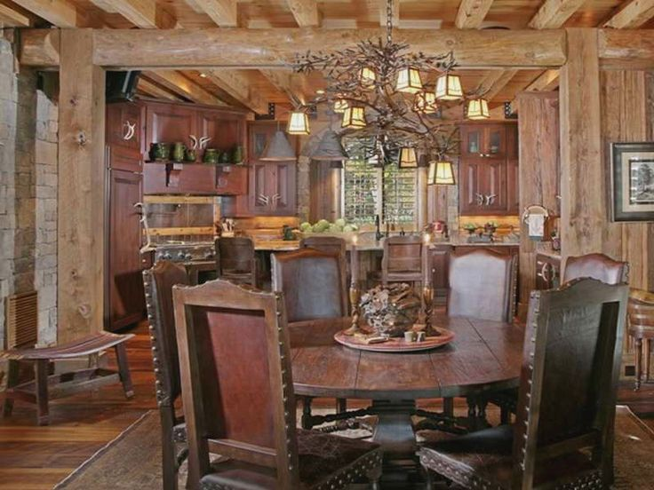 Genial Rustic Dining Rooms Ideas Images With Pendant Lamps And Painting Rustic  Dining Room Decorating Ideas With Furniture