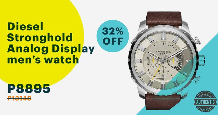 Sport the coolest watch with Diesel Stronghold Men's Watch on #sale today at supremedeals.com! #SupremeDeals #diesel #menswatch #manilafashion #musthave