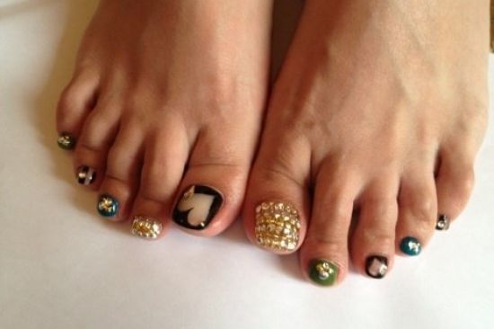 Cool Pedicure Nail Art Ideas for Fall
