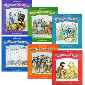 Stories From The Bible Kids Books (Set of 6)