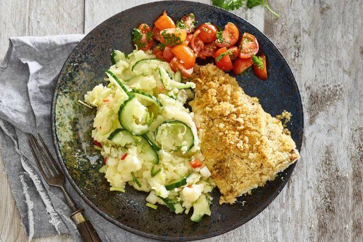 Zachte visfilet in een krokant jasje van panko en hazelnoten - Recept - Allerhande