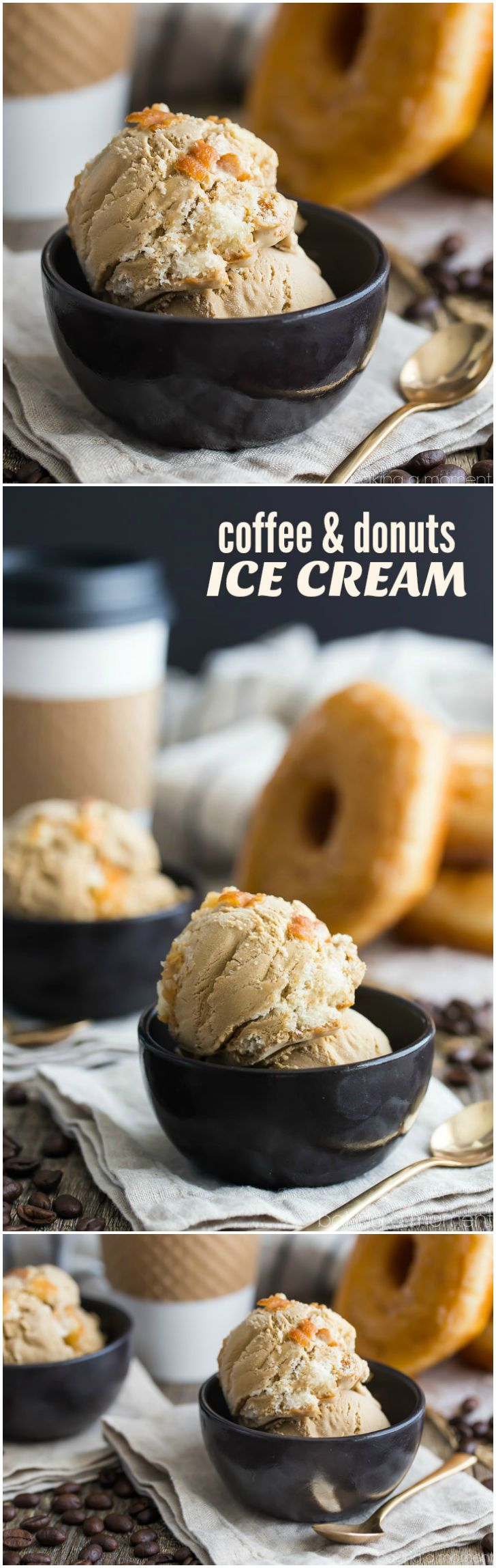 Coffee and Donuts Ice Cream- *might* be the best ice cream flavor ever.  food desserts coffee