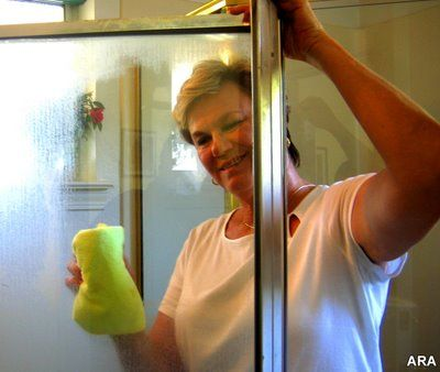 How to Remove Soap Scum and Hard Water Stains from Shower Glass - this is an excellent post that clearly explains different water stains and how to remove them - Snap Crackle Sold