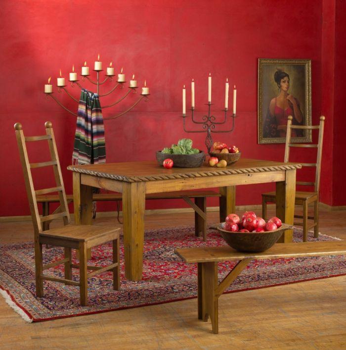 rustikale möbel esstisch stühle bank spanischer stil