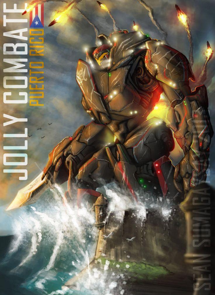 Original Pacific Rim Jaeger: ''JOLLY COMBATE'' by SeanSumagaysay on deviantART