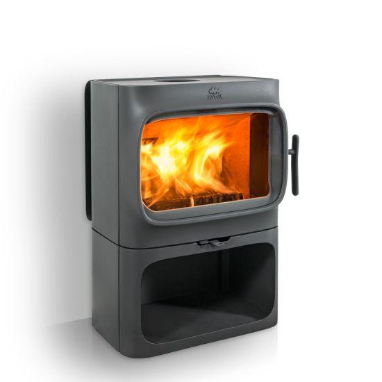 Jøtul 305 B  Grote haard met een modern design Korte afstand tot brandbare muren/materialen Ongeëvenaarde zicht op het vuurbeeld Zit op een solide basis en biedt de mogelijkheid om hout op te slaan onder de verbrandingskamer