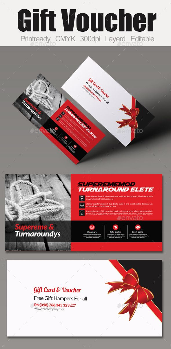 Multi Use Business Gift Voucher Design, Gift vouchers and Business