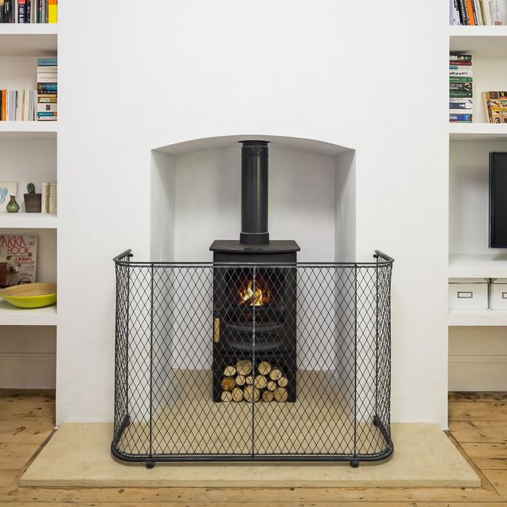 Traditional black fire guard - Fireguards suitable for stoves and log burners from Garden Requisites.