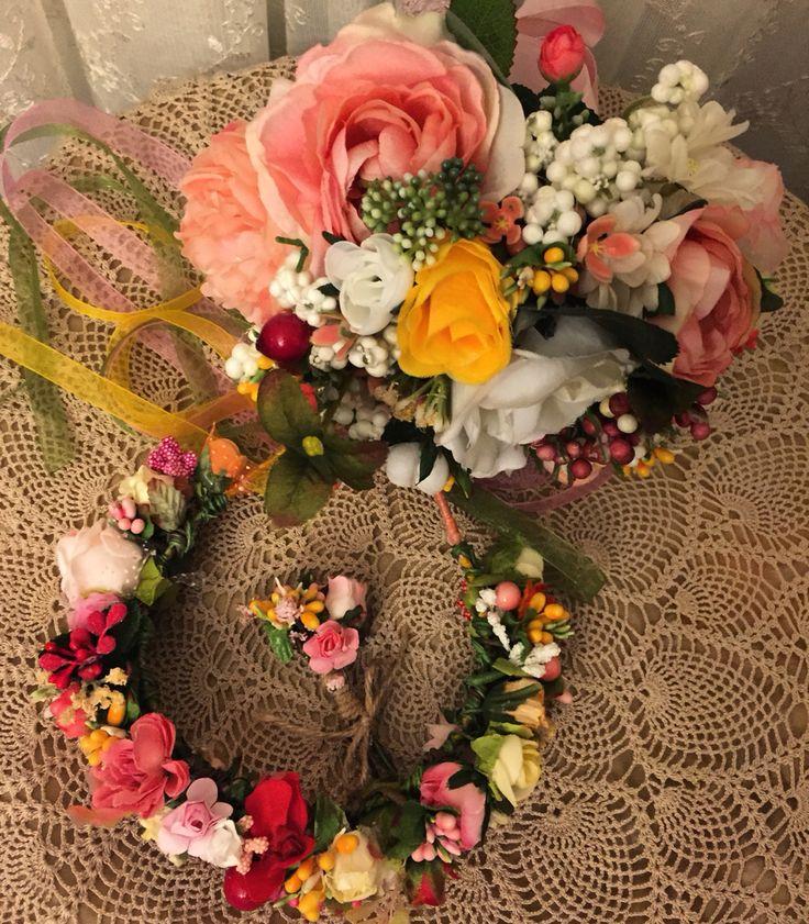 gelin tacı, taç, çiçekli taç, düğün, gelin, bride, buket, gelin buketi, el buketi, damat yaka çiçeği