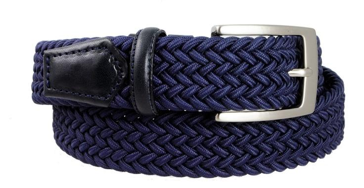 BRUCLE-PE2013-Cintura Intrecciata Elastica Blu
