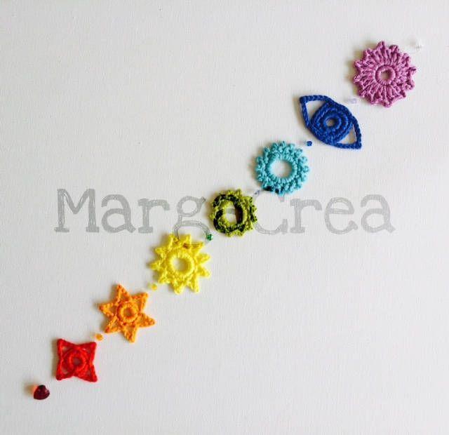 Chakras Crochet Pattern Crochetmandalapattern Chakras Crochet Pattern Etsy Cakralar Boncuk Orgu