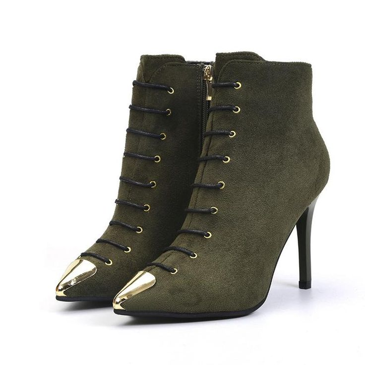 Women Mosaic Color Artifical Suede Buckle With Thin Heels Boots