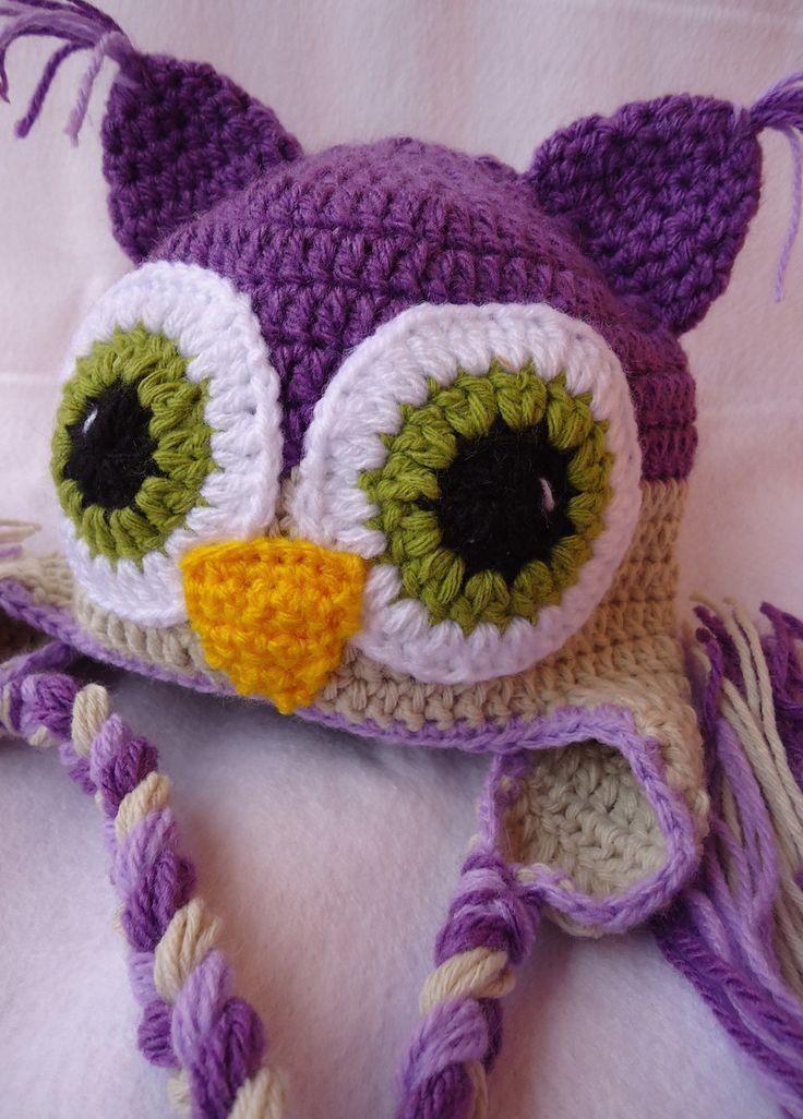 Touca Coruja Purple | Bunica Chica | Elo7