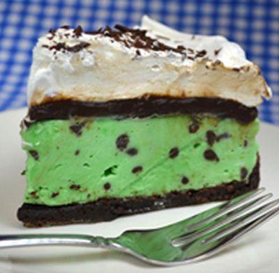 Mint Chocolate Chip Ice Cream Brownie