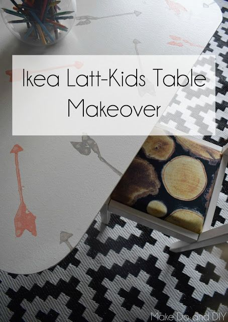 kids table makeover ikea latt hack