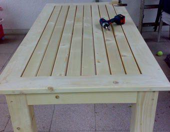Terassentisch aus massiver Fichte Tisch,Möbel,Terassentisch,Fichte