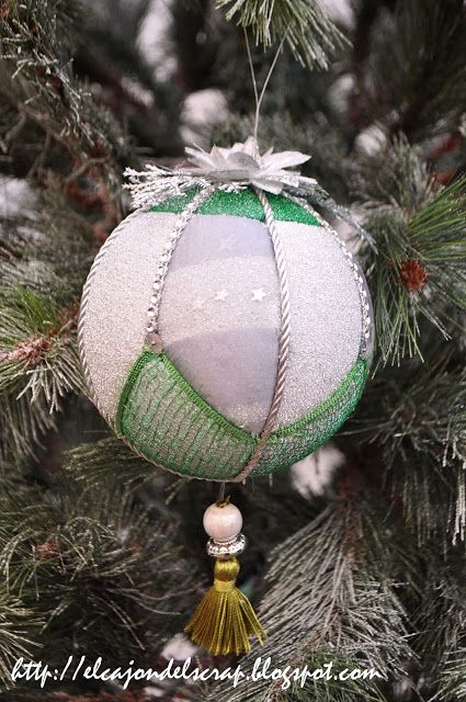 Bolas de patchwork sin aguja / No sew Christmas balls / Christmas ornaments crafts/ Quilted ball
