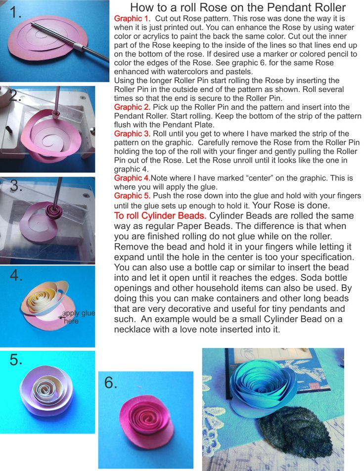 A Tutorial on How to roll a Paper rose on the Pendant Roller. http://papercraftsite.com/