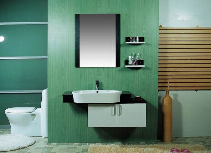 bathroom ideas with black cabinets - Google Search