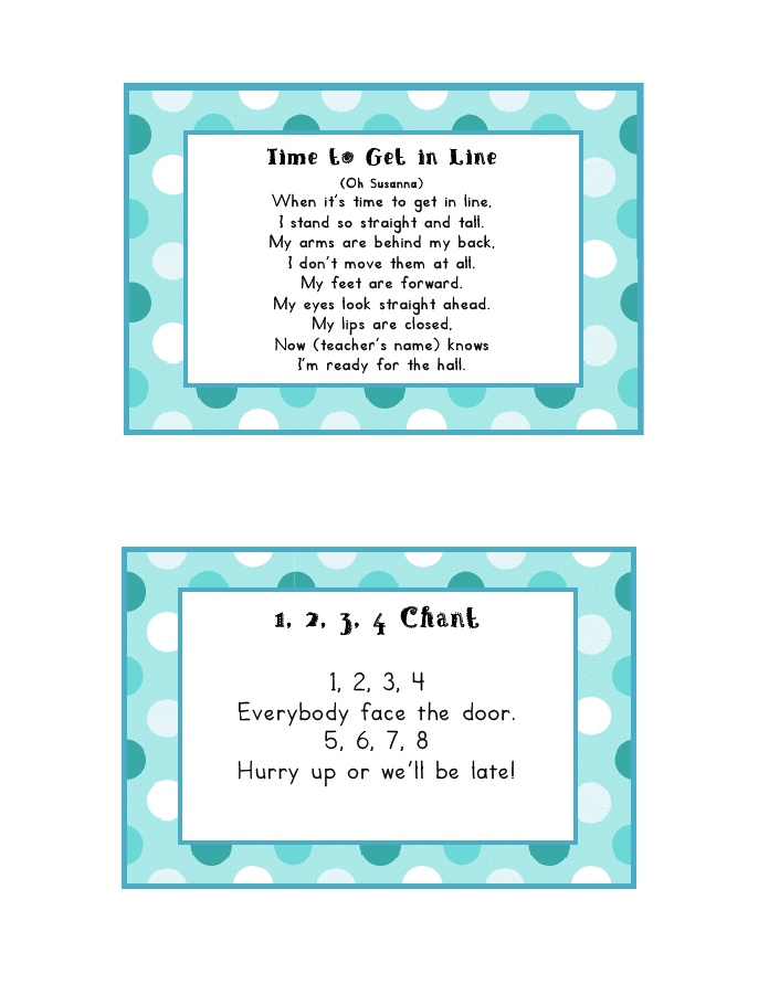 Classroom Line Up Ideas ~ Best ideas about line up chants on pinterest