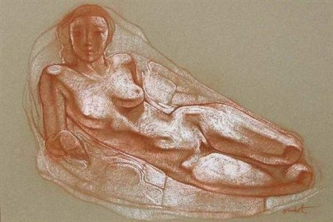 Odalisque by Georges Oudot