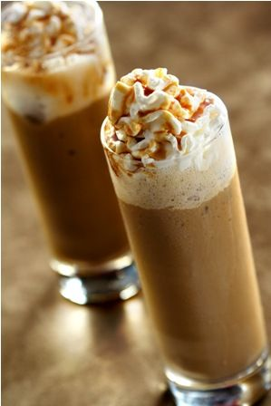 iced caramel coffee slush