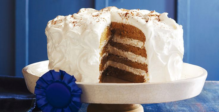Chai-Spiced Layer Cake with Meringue Icing