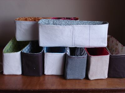 fabric box tutorial (organize craft/sewing supplies)
