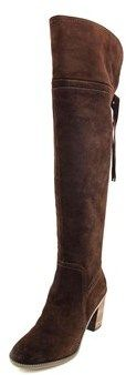 Franco Sarto Eckhart Round Toe Suede Over The Knee Boot.