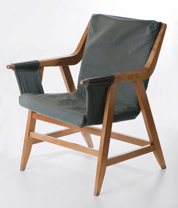 Maria Chomentowska; Lounge Chair for the Furniture Wing of the Industrial Design Institute in Warsaw, 1957.
