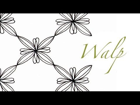 a little lime: Walp Tangle Pattern Video