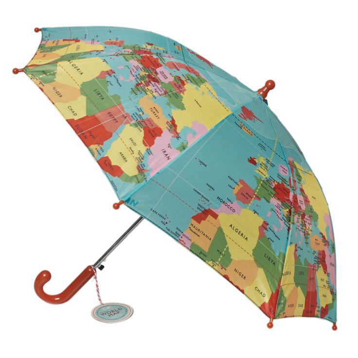 Detský dáždnik svetová mapa