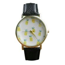 Creative Luxury Watch Women Pineapple Pattern Leather Band Analog Quartz Watch…