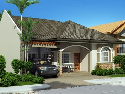 7 best bungalow house plans images on pinterest modern houses contemporary houses and modern for Home design philippines small area